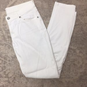 Seven for All Mankind White Denim Jeans